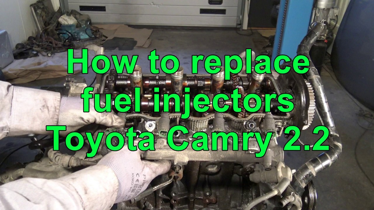 How to replace fuel injectors Toyota Camry 2 2  Engine 5S-FE