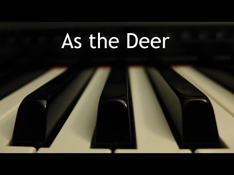 As the Deer - piano instrumental hymn with lyrics