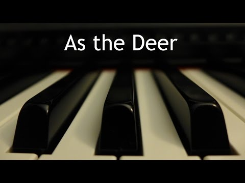 As the Deer - piano instrumental hymn with lyrics