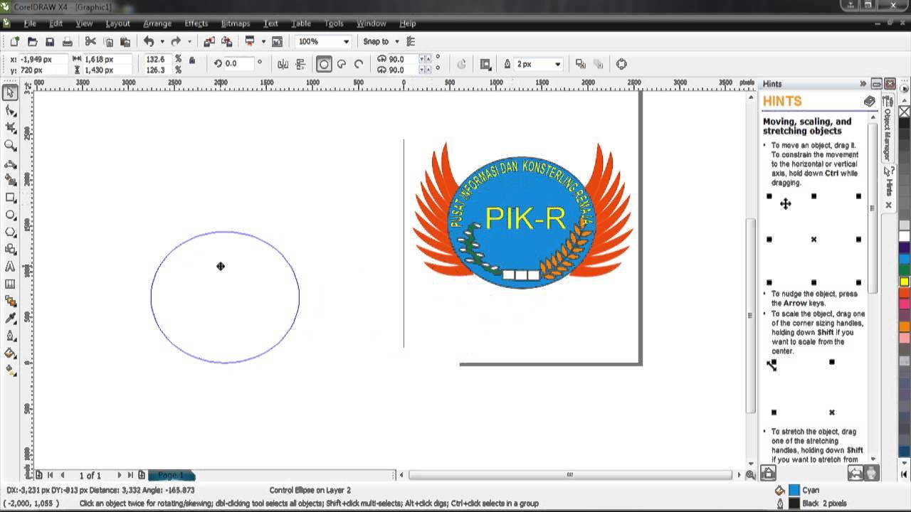 sizing handles. desain logo bagus sizing handles