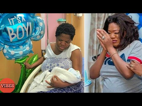 Toyin Abraham In Tears As She Finally Becomes A Mother