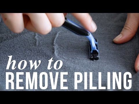 How to remove pilling, aka lint balls