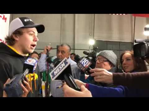 a8bdaf521 Charlie McAvoy on injury: 'Making good strides' but still not on ice ...
