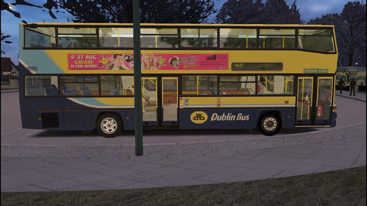 Omsi The Bus Simulator map Essen route 145 Man SD2020 Dublin bus