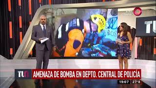 Amenaza de bomba en Departamento Central de Policía