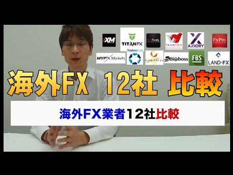 海外fx業者を12社一気に比較してみた【海外fxチャンネル】