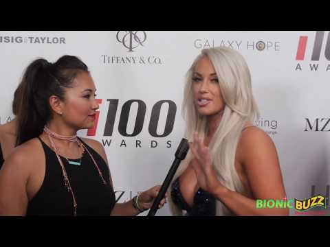 Laci Kay Somers Interview at i100 Awards Mansion Party