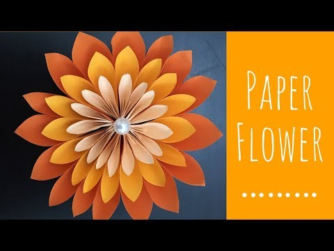 how to make large paper flower / large size flower tutorial / easy paper flower making