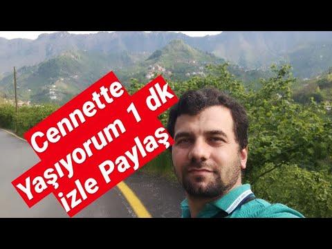 Yalan Dünya'nın cennetinde Bu Süper Manzarada yaşıyorum 1 dakika izleyin Yemyeşil  Karadeniz Trabzon