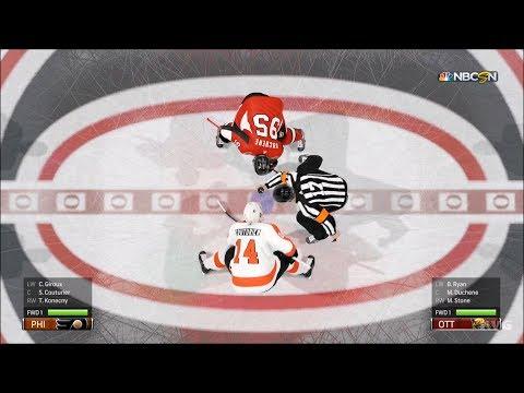 NHL 19 - Ottawa Senators vs Philadelphia Flyers - Gameplay (HD) [1080p60FPS]