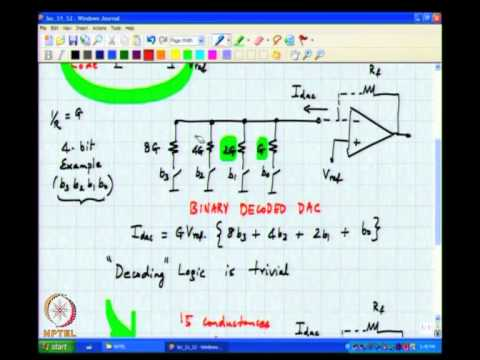 Mod-01 Lec-51 Binary and Thermometer DACs