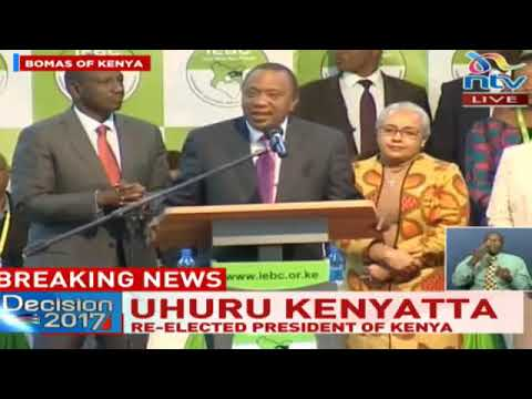 Uhuru Kenyatta wins Kenya presidential election