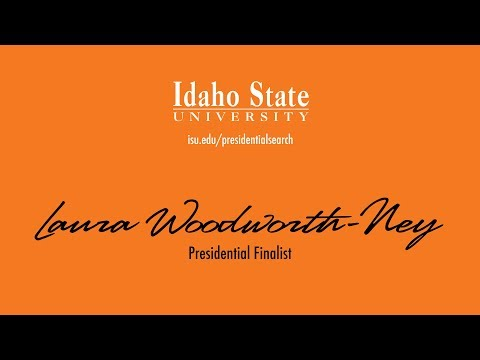 Laura Woodworth-Ney - Presidential Finalist - Faculty and Staff Forum