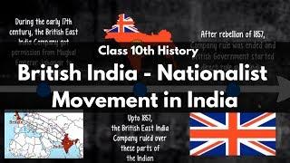 British India - Nationalist Movement in India : CBSE Class 10 History