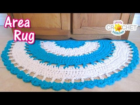 Beautiful Half Circle Area Rug   Crochet Tutorial