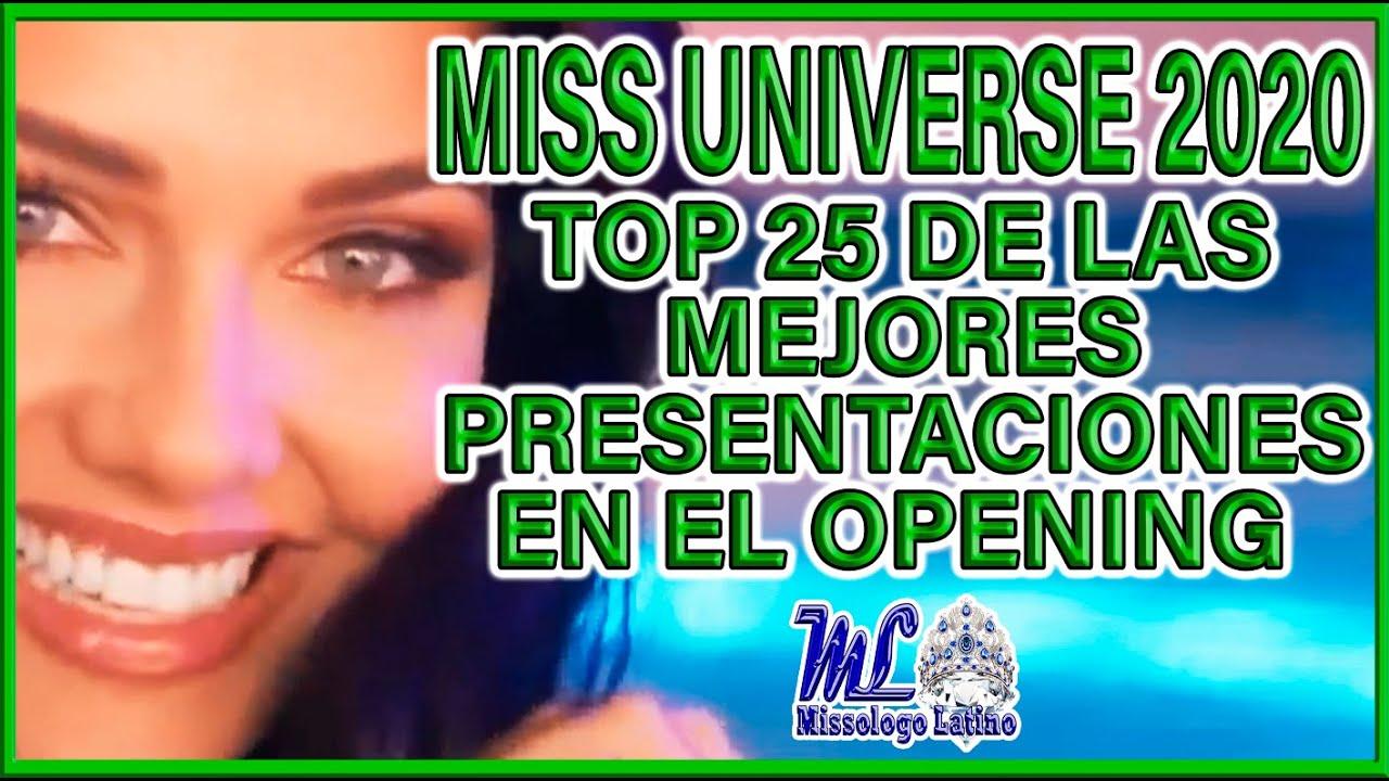 Top 25 de las Mejores Presentaciones en el Opening de Miss Universo 2020