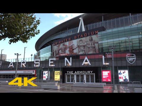 London Walk: Outside Emirates Stadium   Arsenal F.C.   2020/21 Season【4K】
