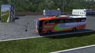 Euro Truck Simulator 2   Indonesian Bus Mod   JetbusHD2 + Tameng PO EFISIENSI