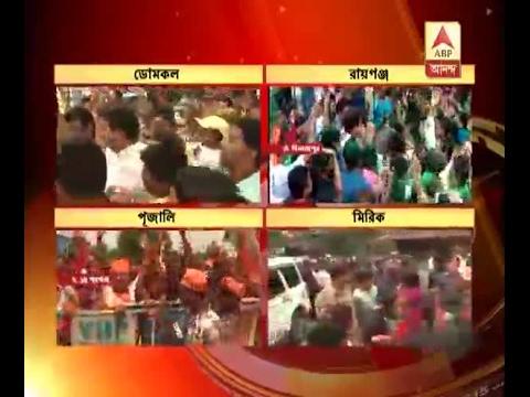 Municipal Poll Result: TMC celebrates victory in Pujali, Domkal, Raiganj, Mirik