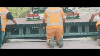 The installation of the 1st PlasticRoad in the world in Zwolle (NL)