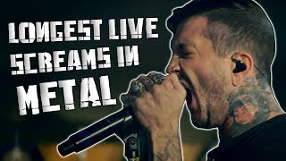 10 Longest Live Screams In Metal