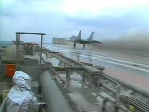 MiG-29K :  Landing and Taking Off of Aircraft Carrier Admiral Kuznetsov
