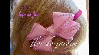 Laço luxo de fita de gorgurão -DIY – Ribbon bow