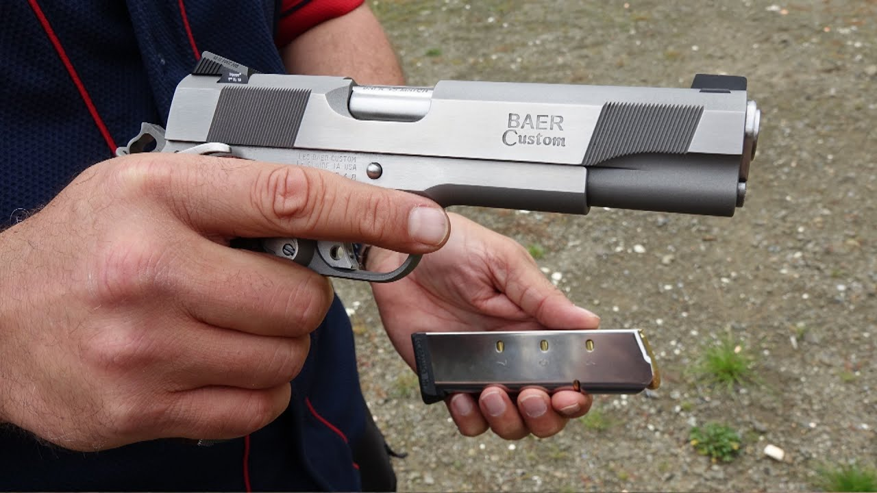 NEW Les Baer Stainless Steel Custom Carry 1911 (HD) - Stack Vid