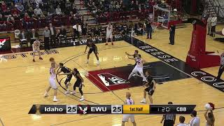 EWU MBB Highlights vs. Idaho (Jan 12, 2018).