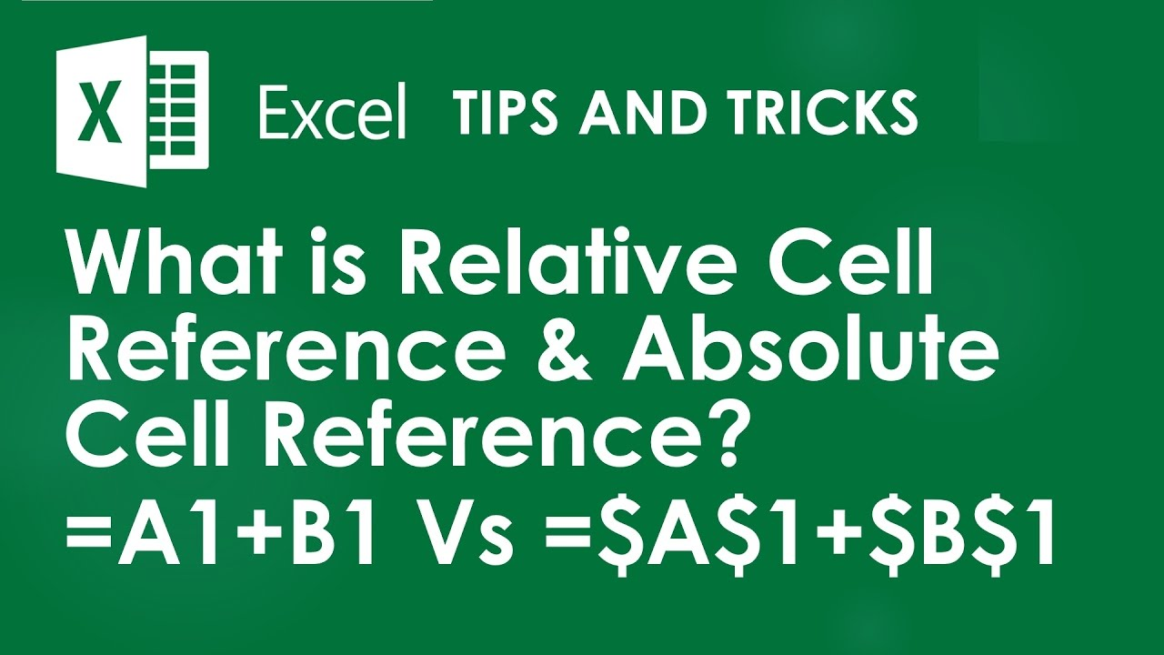 excel tips  u0026 tricks   how to sum with relative cell