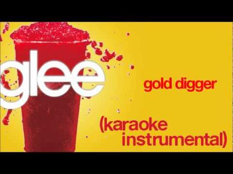 GLEE - Gold Digger (Karaoke / Instrumental) [HQ]