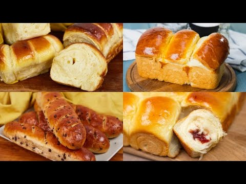 4 Recipes to prepare sweet soft and tasty bread
