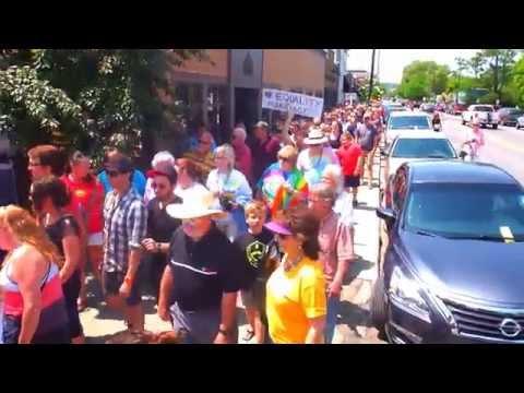 2015 - Traverse City, Michigan - Pride Parade (Same Sex Marriage Walk) Downtown TC - [HD]
