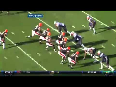 Colt McCoy 16 Yard Touchdown Run - Browns vs Patriots