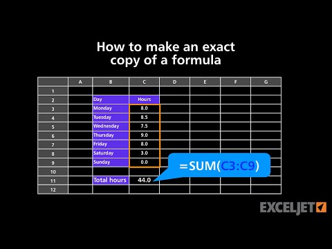 How to make an exact copy of a formula