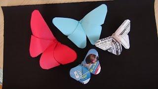 Borboleta de Cartolina - Muito Fácil - Origami