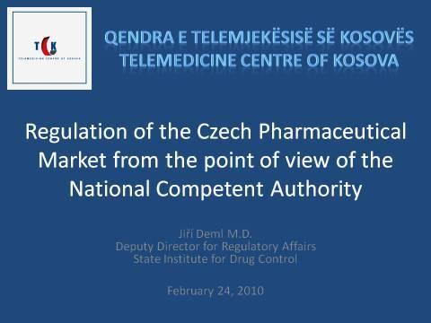 Regulation of the CzechPharmaceutical Market