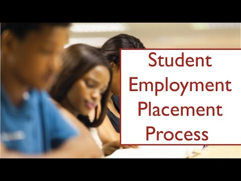 Student Employment Placement Process