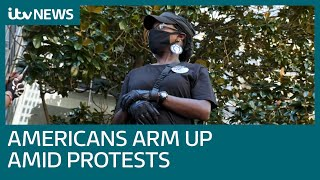 Meet the Americans arming up after a summer of protest and violence | ITV News