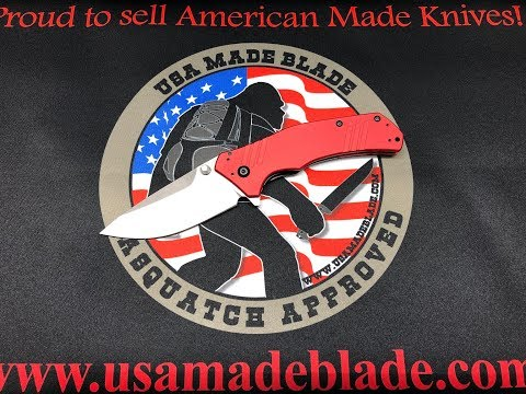 USA MADE BLADE KERSHAW KNOCKOUT EXCLUSIVE RED M390