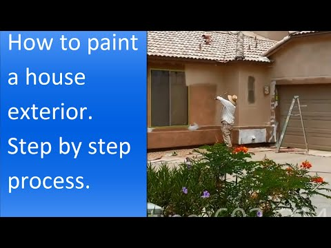 How to paint exterior of a stucco house.
