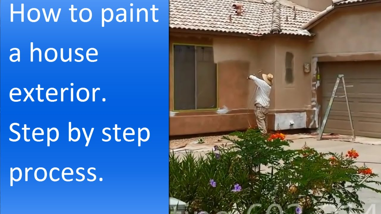 How to paint exterior of a stucco house. - YouTube