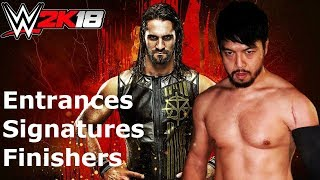 WWE 2K18 Hideo Itami: Entrance/Signatures/Finishers