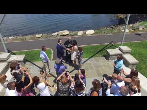 Dobbs Ferry Waterfront Park - Salvatore & Sonia Wedding Ceremony