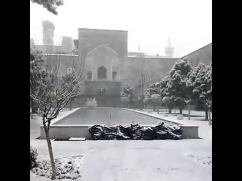 Snowfall in Mashad at the shrine of Imam Ali ibne musa (as)