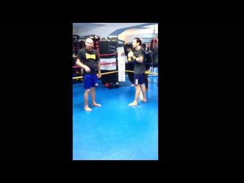 Sparring teknik med Thomas Rasmussen Stockholm Muay Thai