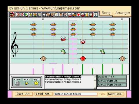 Cartoon Cartoon Fridays Theme in Mario Paint Composer v2