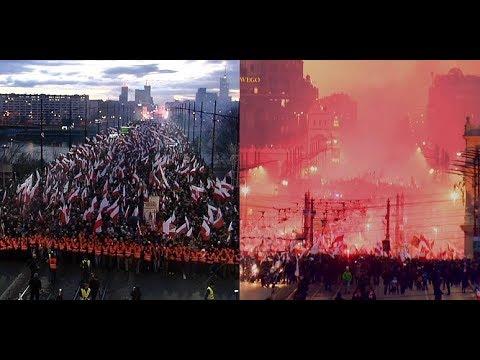 Polish Independence Day 2017, shocking view!!! Marsz Niepodległości  ZAPIS CAŁOŚCI!!!
