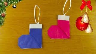 как сделать новогоднюю игрушку из бумаги для детей