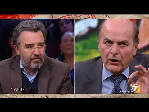 Marco Damilano e Maurizio Belpietro si confrontano con Pierluigi Bersani (LeU)